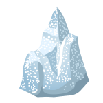 Drawing of ice rock
