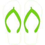 Flipflops with stripe pattern vector drawing
