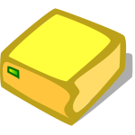 Vector image of orange hard disk drive icon