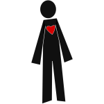 Male person with heart vector graphics