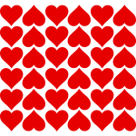 Vector clip art of hearts