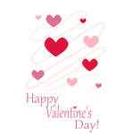 Vector clip art of pink hearts Valetine's Day card