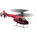 Red helicopter vector drawing