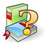 Graphics of book search pictogram icon