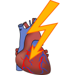 Symbol for heart attack vector drawing