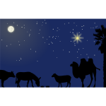 Nativity scene background vector illustration