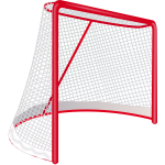 Hockey goal vector clip art