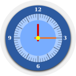 Wall clock vector graphics