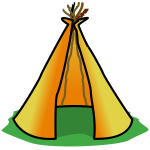 Cartoon teepee