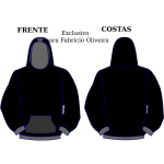 Vector drawing of hoodie front and back