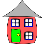 Funny house vector image