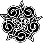 Vector graphics of five pointed celtic ornament