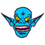 Blue Ice Goblin vector illustration