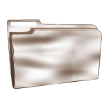 Vector graphics of empty plastic folder
