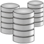 Three point database vector icon