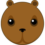Cute bear head vector illustration