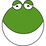 Cute frog face vector image