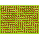 Image of coffee beans forming an optical illusion