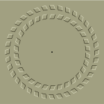 Vector illustration of spinning gear optical illusion