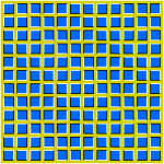 Wavy square optical illusion vector graphics