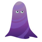 Purple ghost