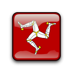 Isle of Man vector flag button