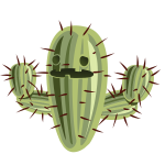 Cartoon cactus