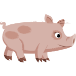 Npc Piggy vector illustration