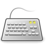 PC keyboard icon vector illustration