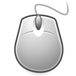 Vector graphics of egg shaped computer mouse