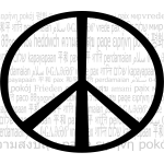 Multilingual peace mark