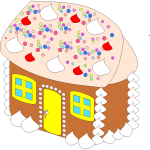 Vector illustration of sweet house