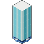 Vector image of high rise building