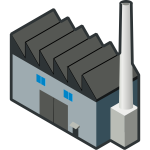 Factory vector icon