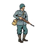 Italian soldier of WW2 vector