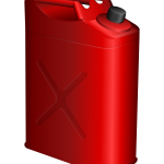 Vector drawing of red petrol canister