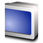 CRT display vector image