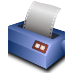 Matrix printer vector image