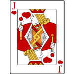 Jack of heart playing card vector graphics