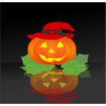 Pumpkin with hat vector drawing