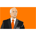 Jack Layton vector drawing