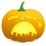 Crying pumpkin vector drawing