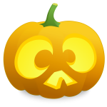 Surprised pumpkin vector image