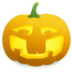 Mocking pumpkin vector clip art
