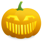 Vector illustration of jack-o-lantern scary