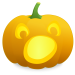 Shocked pumpkin vector illustration