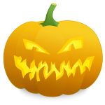 Mad pumpkin vector graphics