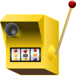 Vector clip art of jackpot speed camera