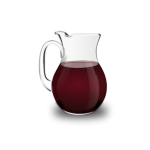 Red wine pitcher