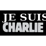Je suis Charlie label vector clip art in color